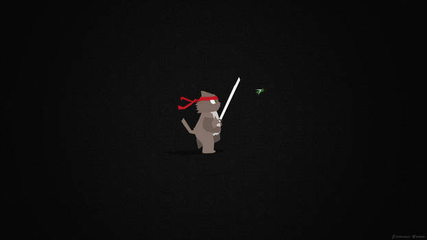 Ninjacat Chasing Bug