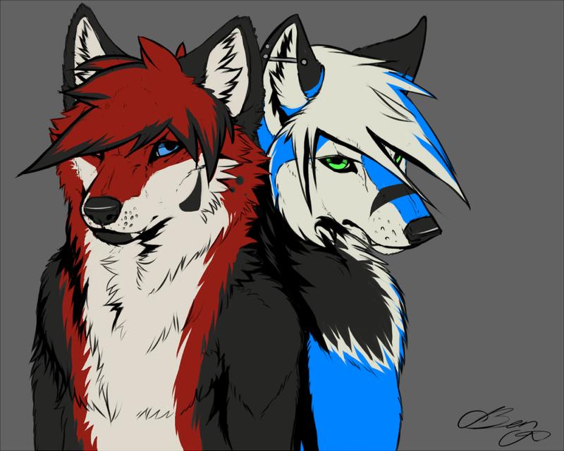 Xodiak and Wolfken Commission by Foxbat-Sullavin