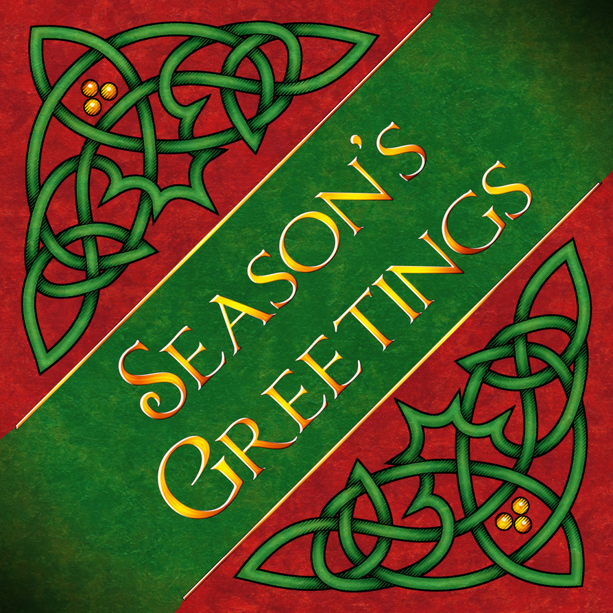 Seasons Greetings Knotwork by Kittenpants