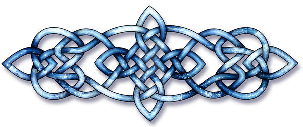 Celtic Knot - Starlight and Sea by Kittenpants
