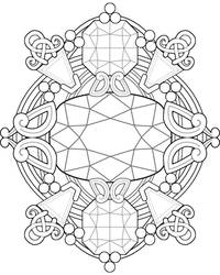 Gemstone Fantasy ~ Adult Coloring Page