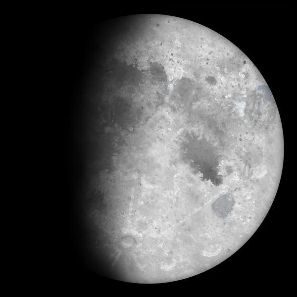 Waxing Gibbous Moon by Kittenpants