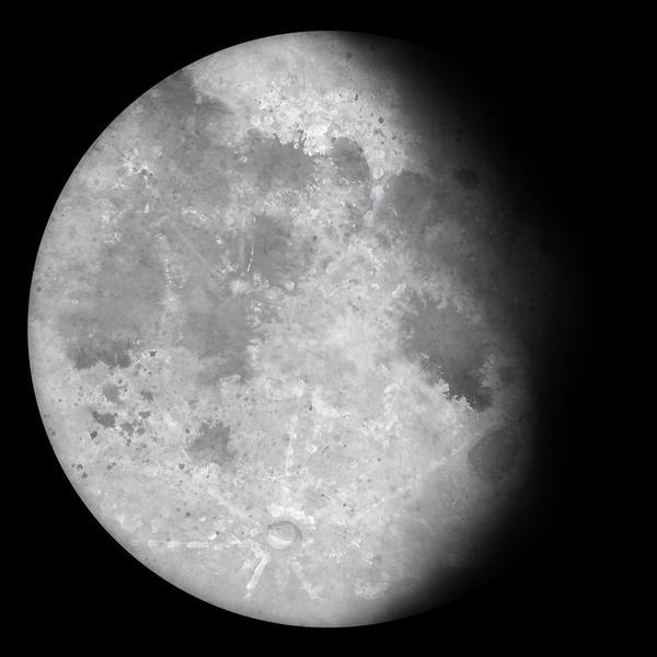 Waning Gibbous Moon by Kittenpants
