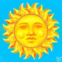Batik Sun in Splendor by Kittenpants