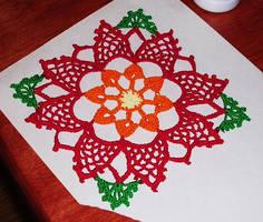Crochet lace flower by Kittenpants
