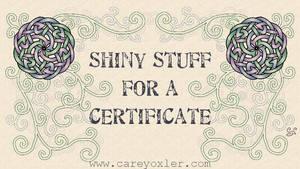 Certificate Flourish by Kittenpants