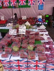 Saffron Walden, England Market Stall 08 by ChrisFG