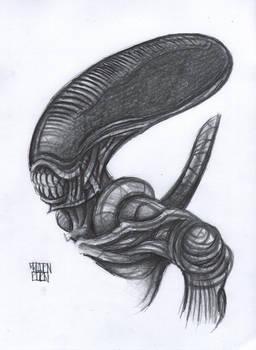 Alien : Xenomorph Sketch - Traditional