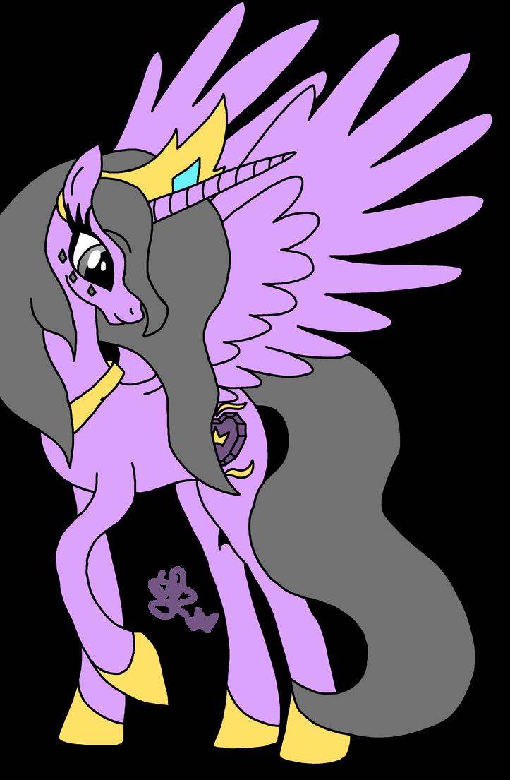 Queen Sapphire Heart- MLP OC by shadowolf1004