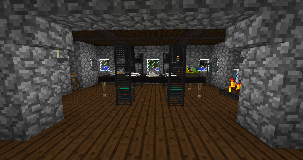Minecraft modded- My Dining Room View 1 by shadowolf1004