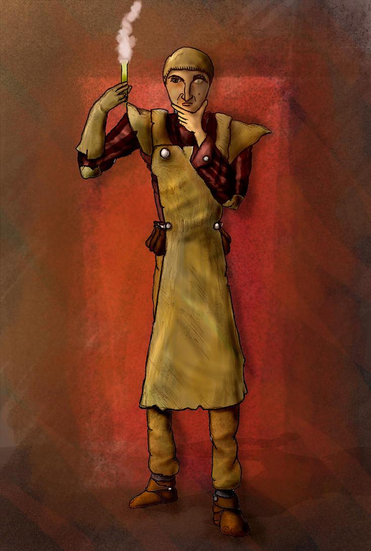 Ludewich Tannhauser - Andergasitan alchemist by Drykell