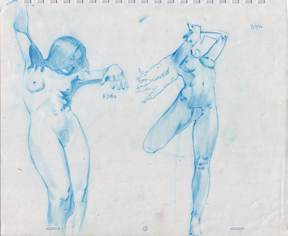 Female Nude Figure Drawings by Taurine75