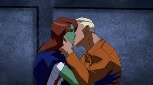 Superboy and Miss Martian Kiss by xladyjagsvb32x