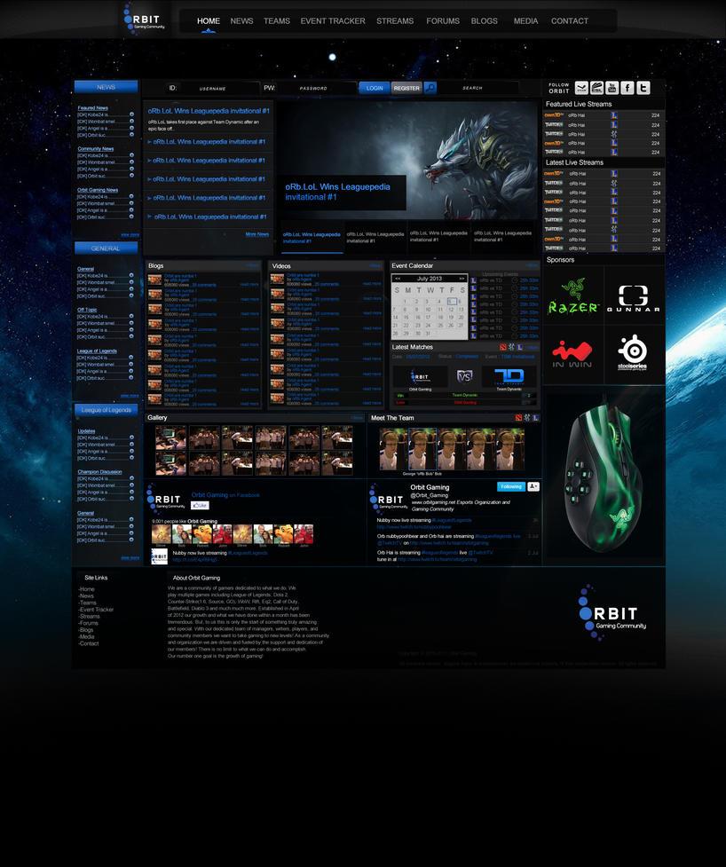 Orbit Gaming Website Design by SamBouchard on DeviantArt