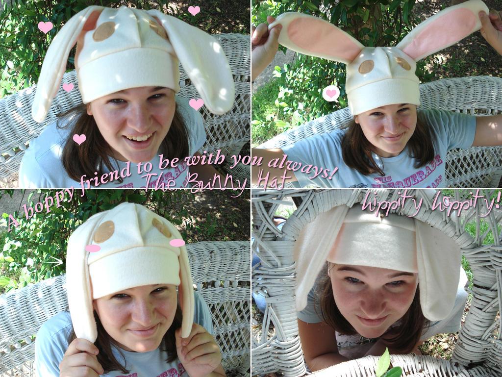 Hippity Hoppity Bunny Hat by silver-raindrops