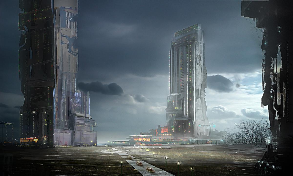 sci-fi station by flockenpracht