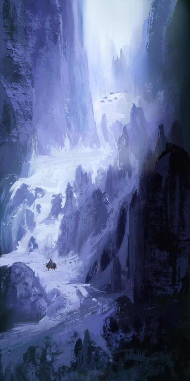 snow_mountain_village by flockenpracht