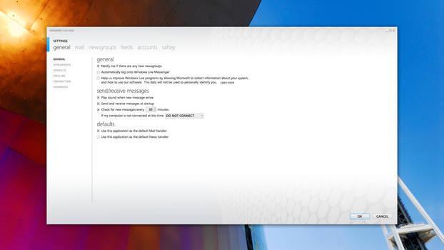 MetroMail - Settings UI