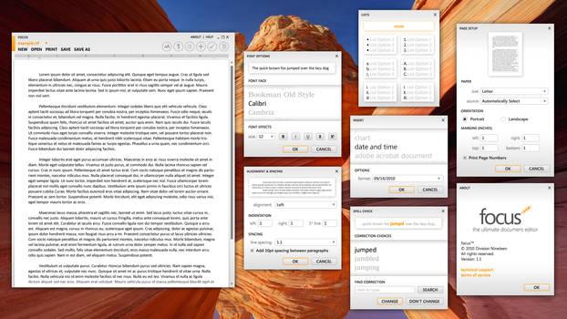 Focus 1.1 - Text Editor Rework