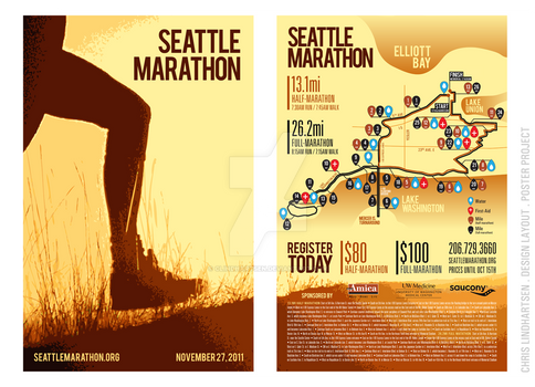 Seattle Marathon - Poster