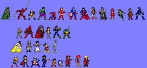 Various Jump Ultimate Stars style sprites