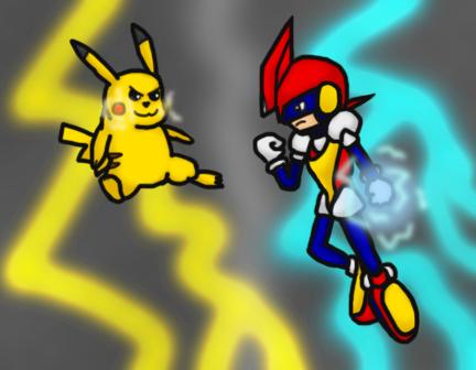 Pikachu VS Pulseman (All-Star Showdown) by totalgymvssonic