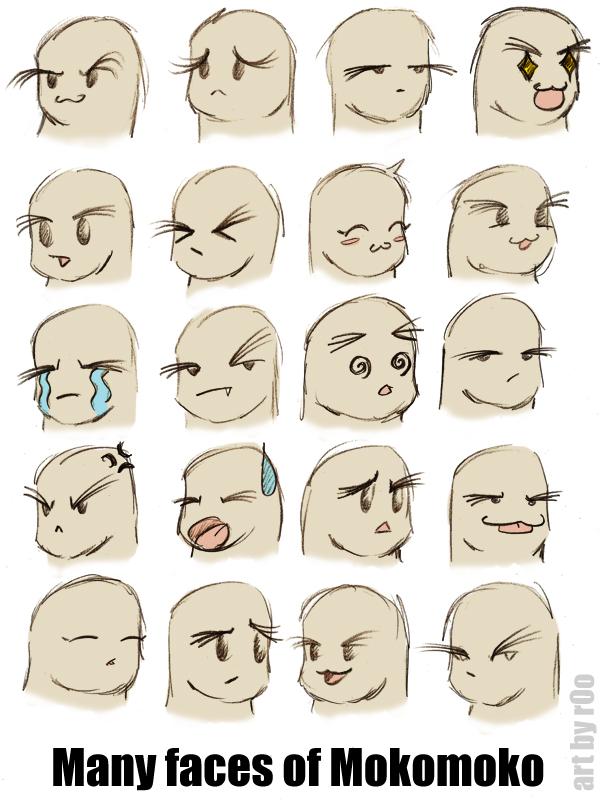 m m faces of mokomoko by sugar0o on deviantart