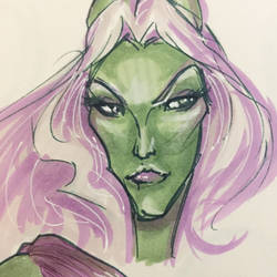 Maleficent quick sketch  by sugar0o