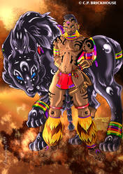 Botwe and Anubis by Darkphoenix909