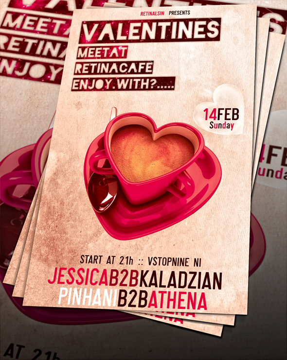 Valentines Day Flyer -PSD- by retinathemes