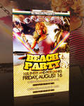 BEACH PARTY FLYER -PSD-