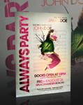 Always Party Flyer -PSD-