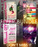 TYPOGRAPHY FLYER BUNDLE - 4IN1