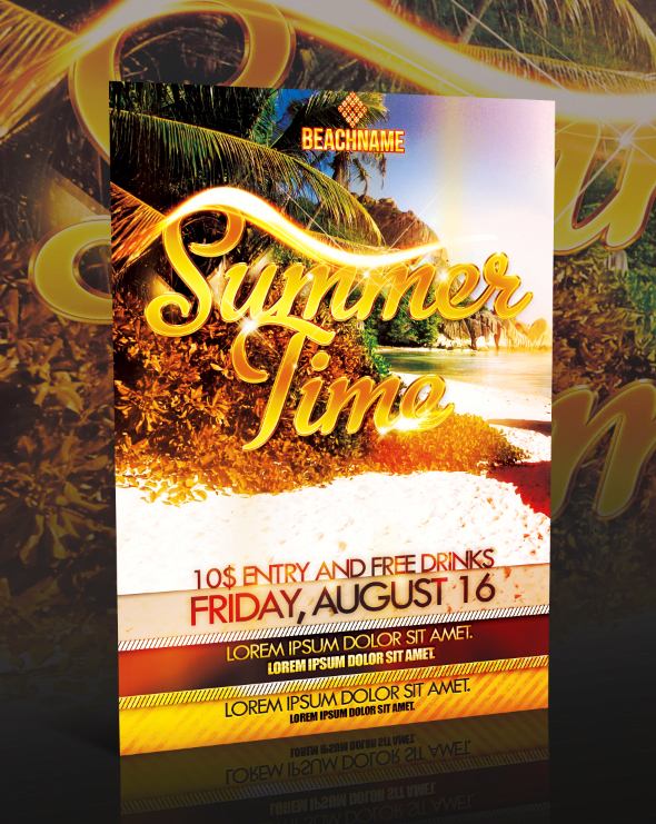 PSD SUMMERTIME FLYER by retinathemes
