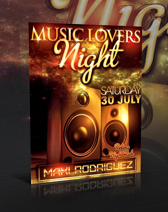 MUSIC LOVERS FLYER -PSD-
