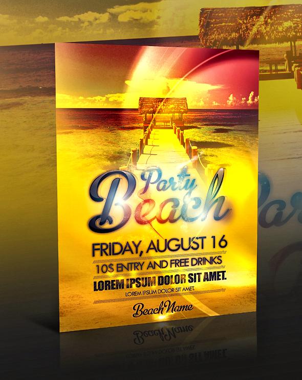 PSD Beach Party Flyer