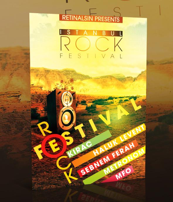 PSD Rock Festival Flyer