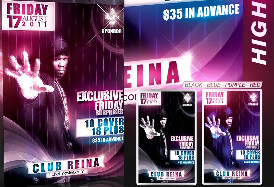 PSD Amazing Nightclub Flyer by retinathemes