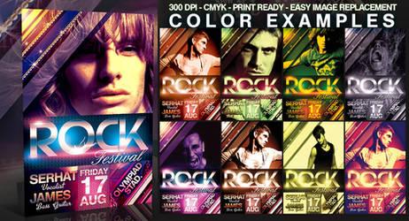 PSD Rock Flyer Template by retinathemes