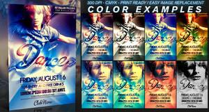 PSD Dance Flyer Template