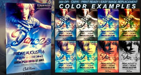 PSD Dance Flyer Template by retinathemes