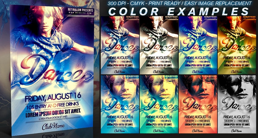 psd dance flyer template by retinathemes on deviantart