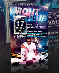 PSD Nightclub Flyer Template by retinathemes