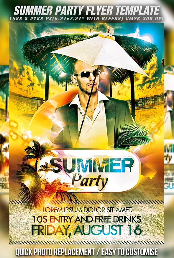 Summer Party Flyer Psd Free Morenpulsar