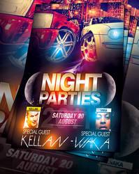 PSD NightParty Flyer