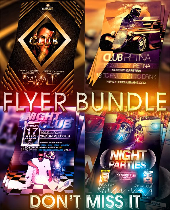PSD Nightclub Flyer Pack by retinathemes