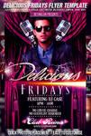 PSD Delicious Fridays Flyer
