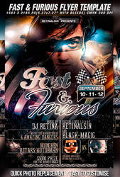 PSD Fast N Furious Flyer by retinathemes