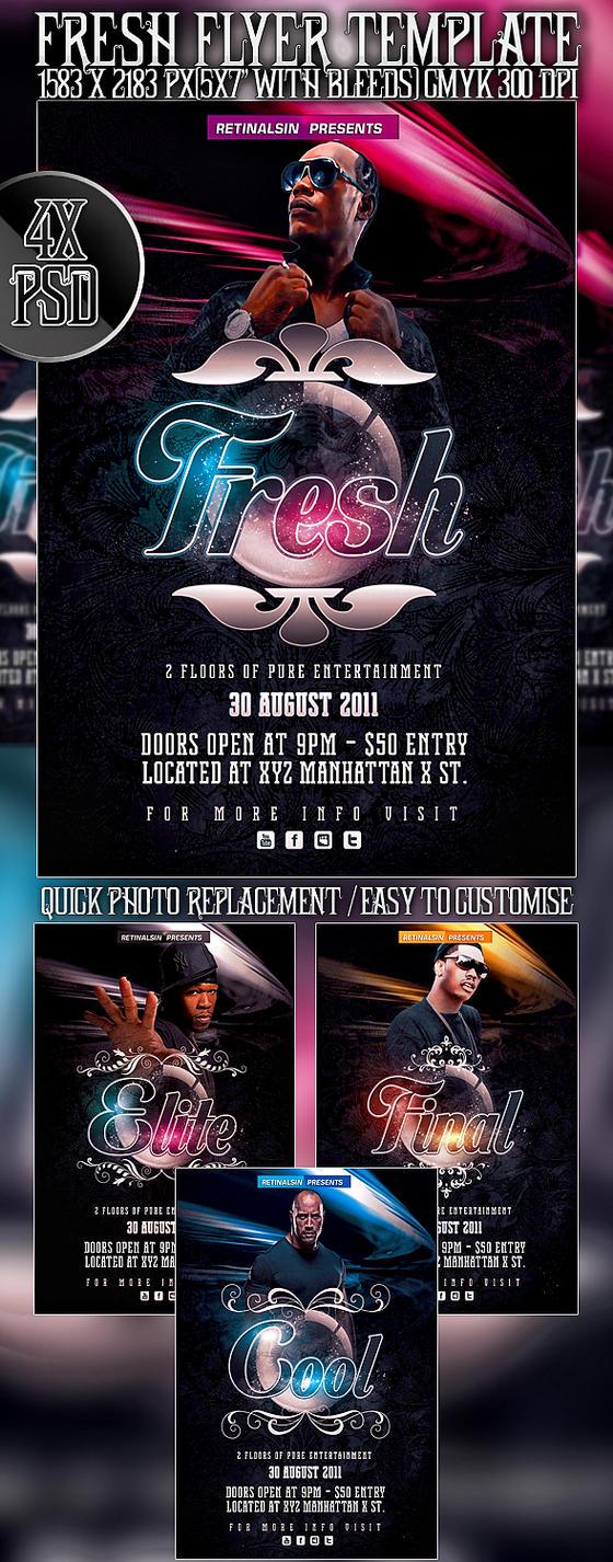 PSD Fresh Flyer by retinathemes