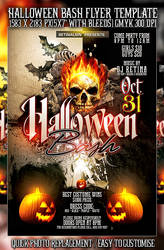 PSD Halloween Bash Flyer by retinathemes